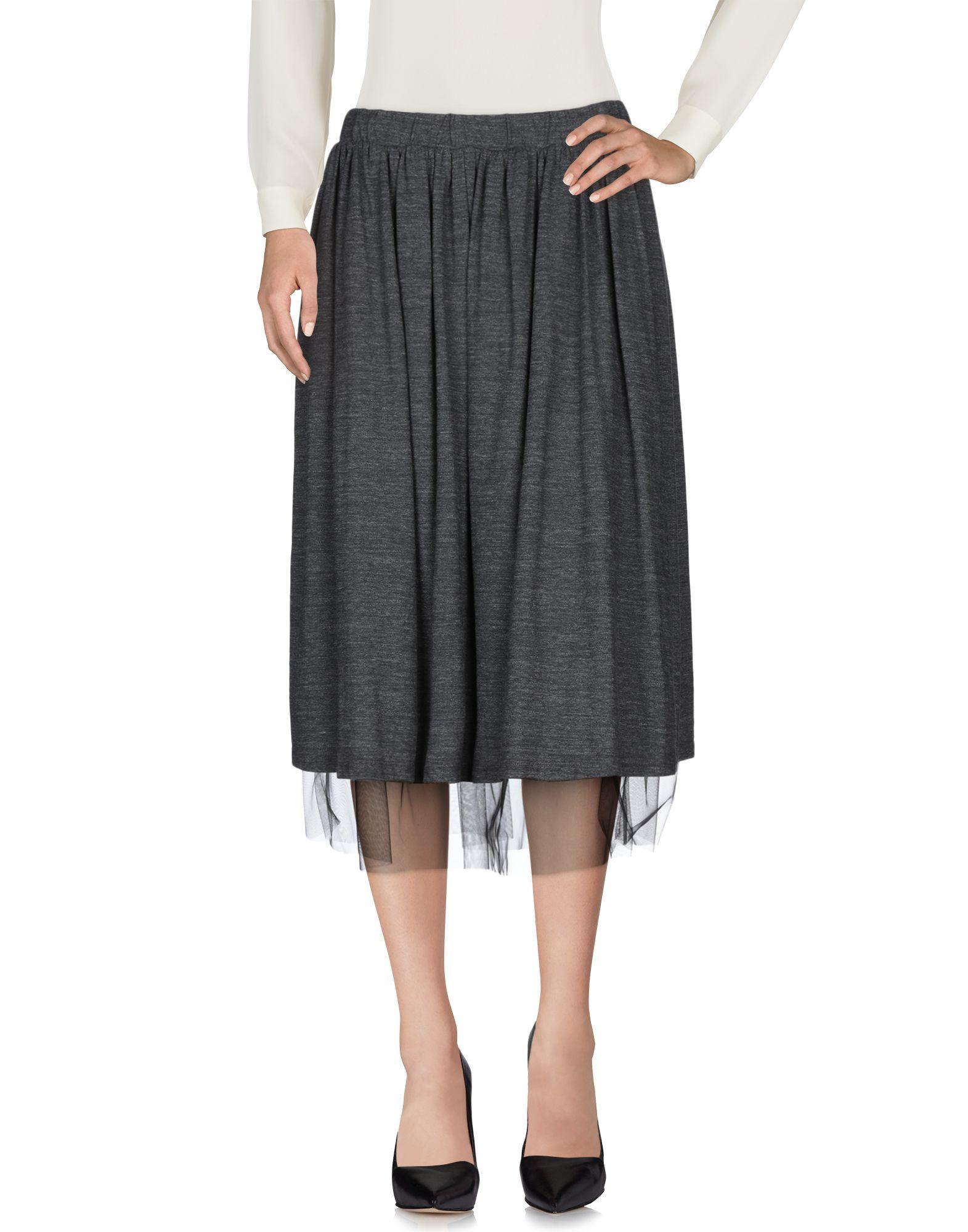 TWIN-SET JEANS Юбка длиной 3/4 trussardi jeans юбка длиной 3 4