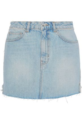 IRO Frayed denim mini skirt