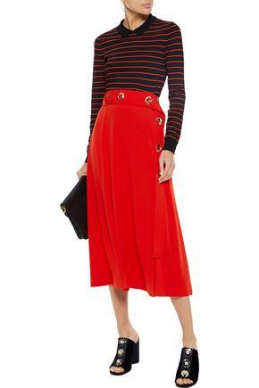 DEREK LAM 10 CROSBY Belted crepe midi skirt