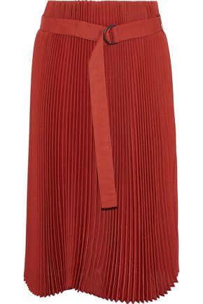 BRUNELLO CUCINELLI Belted pleated gauze skirt