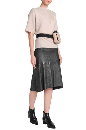 BRUNELLO CUCINELLI Metallic leather skirt