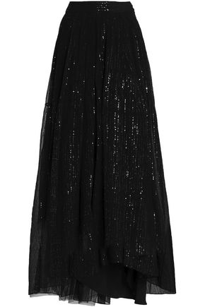 BRUNELLO CUCINELLI Sequined silk-georgette maxi skirt
