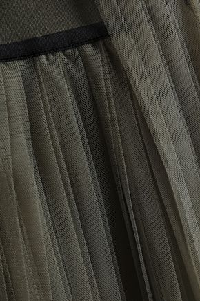 BRUNELLO CUCINELLI Layered pleated tulle skirt