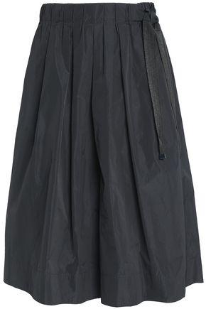 BRUNELLO CUCINELLI Bead-embellished pleated taffeta skirt