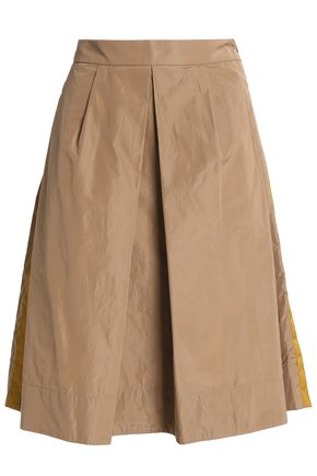 BRUNELLO CUCINELLI Pleated taffeta skirt