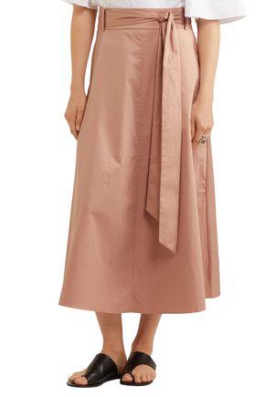 TIBI Cotton-poplin wrap midi skirt