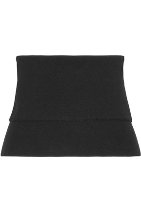 TIBI Ribbed wool-blend bustier top