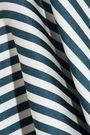 HELLESSY Striped ruffled silk-twill maxi skirt