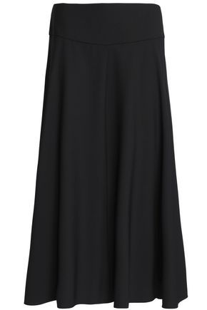 JIL SANDER Flared wool-blend midi skirt