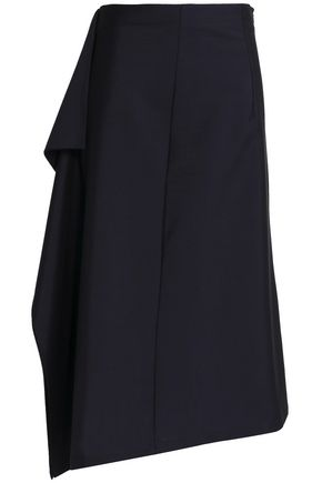 JIL SANDER Asymmetric wool and mohair-blend midi skirt