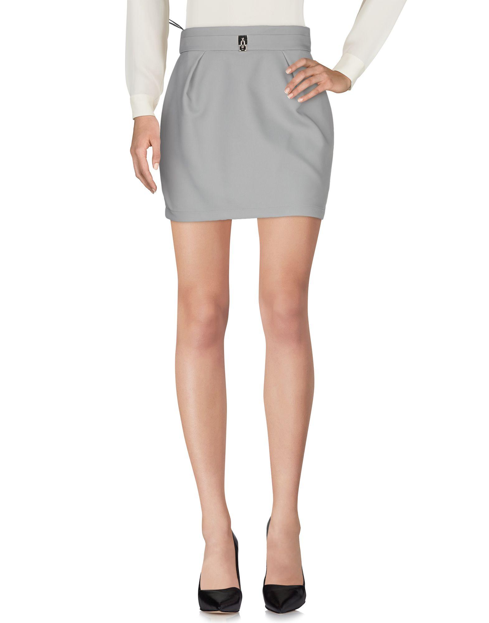 《期間限定セール中》ELISABETTA FRANCHI 24 ORE レディース ひざ丈スカート グレー 42 ナイロン 78% / ポリエステル 22%