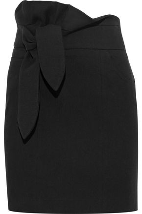 IRO Katmore tie-front cotton-blend mini skirt