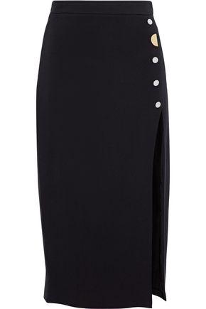CUSHNIE ET OCHS Dahlia button-embellished stretch-cady pencil skirt