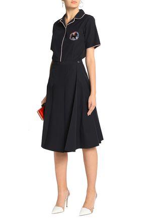ROCHAS Pleated cotton-blend skirt