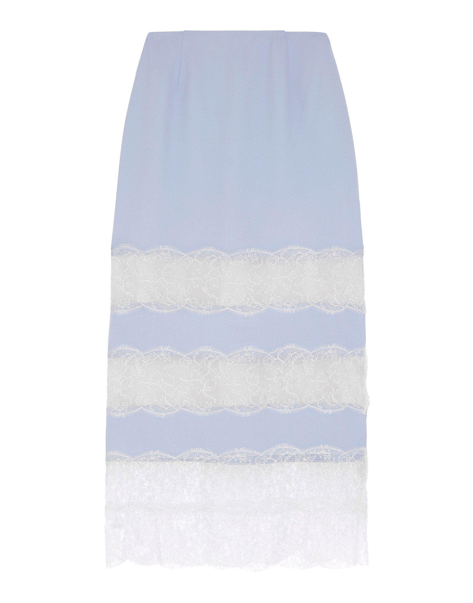 WES GORDON Midi Skirts in Sky Blue