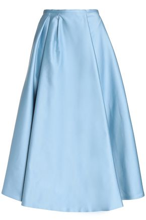 ROCHAS Duchesse satin midi skirt