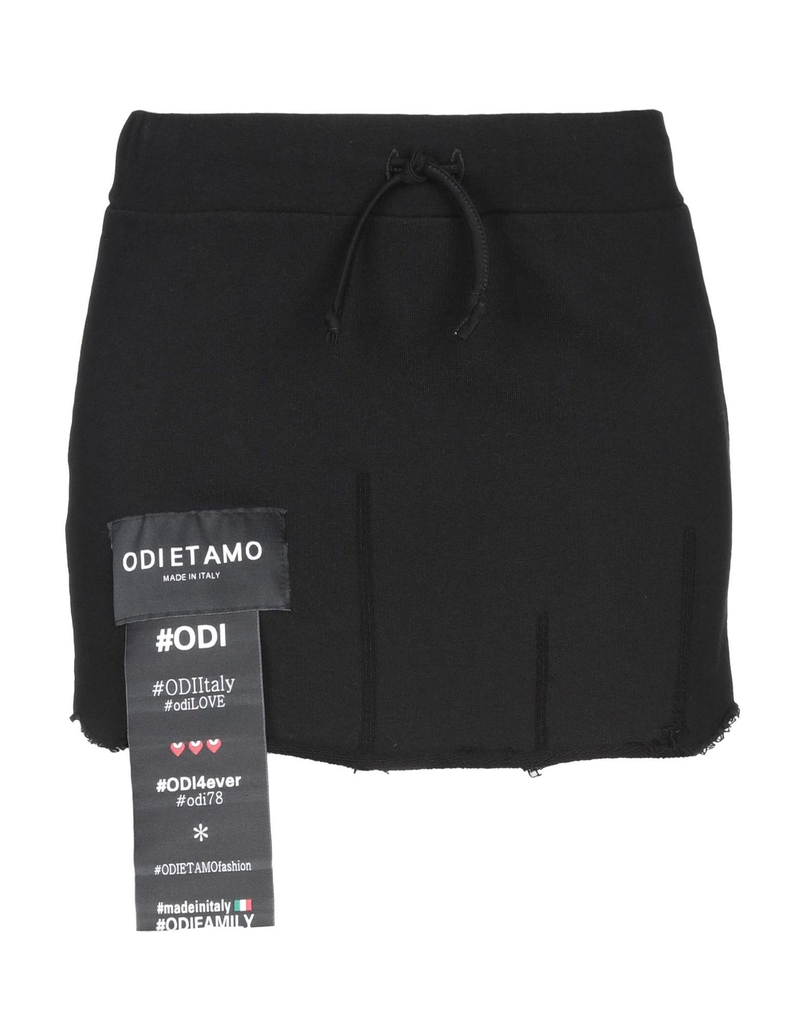 《期間限定セール中》ODI ET AMO レディース ミニスカート ブラック XS 100% コットン