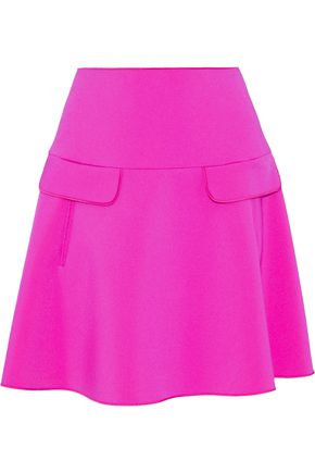 OSCAR DE LA RENTA Neon neoprene mini skirt