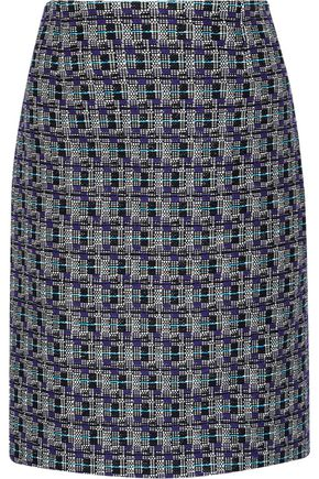 OSCAR DE LA RENTA Cotton and wool-blend tweed skirt