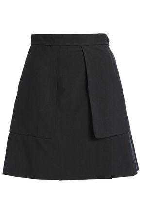 JUST CAVALLI Paneled canvas mini skirt