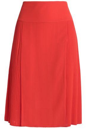 JUST CAVALLI Pleated crepe skirt