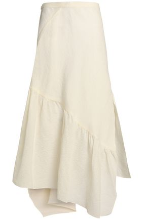 3.1 PHILLIP LIM Asymmetric cotton-blend jacquard maxi skirt