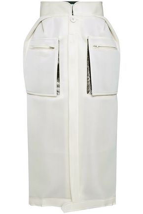 MAISON MARGIELA Metallic-paneled neoprene midi skirt