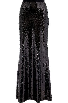 SACHIN & BABI Dorthea sequined mesh maxi skirt