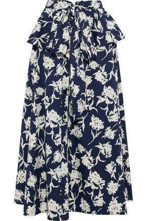 SACHIN & BABI Layered floral-print twill maxi skirt