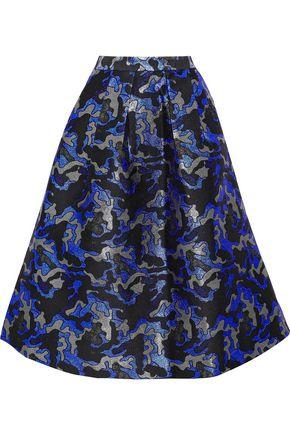 BAUM UND PFERDGARTEN Sashenka metallic pleated jacquard skirt