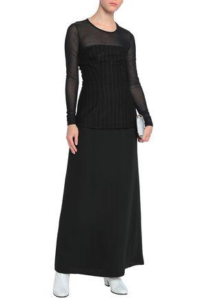 320f2bf8918e31 MM6 MAISON MARGIELA Mesh-paneled wool-blend maxi dress