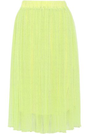 BAUM UND PFERDGARTEN Pleated point d'esprit midi skirt
