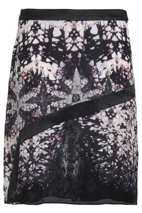 ROBERTO CAVALLI Printed silk crepe de chine skirt