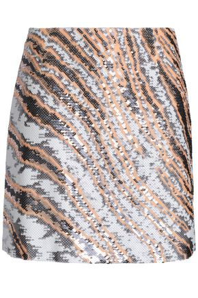 ROBERTO CAVALLI Sequined silk mini skirt