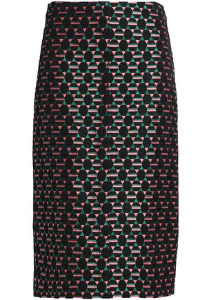 MARNI Cotton-blend jacquard skirt