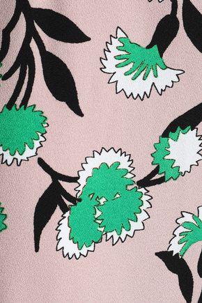 MARNI Floral-print crepe midi skirt