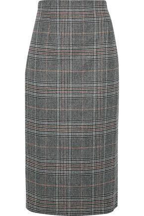 IRIS & INK チェック ウール混 スカート