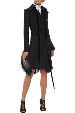 ANN DEMEULEMEESTER Crepe de chine-paneled jersey skirt