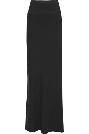 RICK OWENS Rib-paneled wool maxi skirt