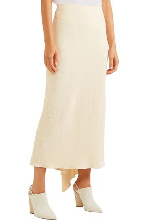 ROSETTA GETTY Asymmetric chenille midi skirt