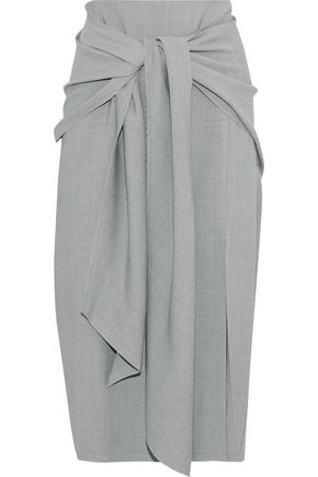 JASON WU Tie-front woven skirt