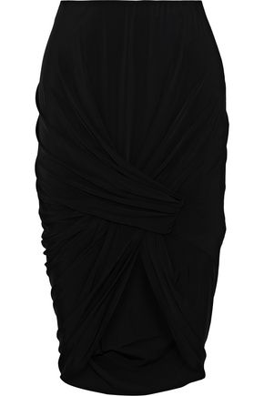 JASON WU Gathered stretch-knit skirt