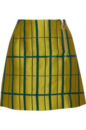 BAUM UND PFERDGARTEN Metallic satin-twill mini skirt