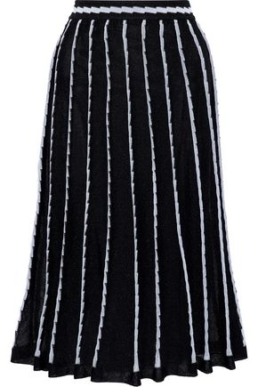 M MISSONI Pleated crochet-knit midi skirt