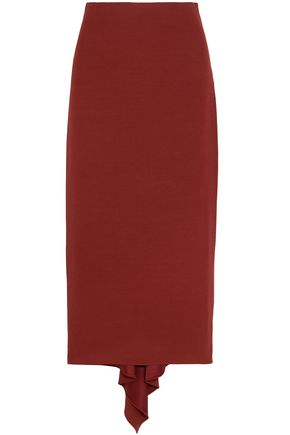 ROSETTA GETTY Asymmetric crepe midi skirt