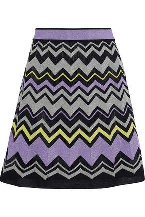 M MISSONI Metallic intarsia-knit mini skirt