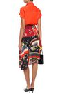 PREEN LINE Blossom tiered asymmetric printed crepe de chine skirt