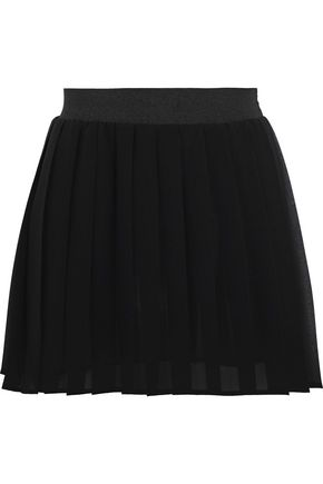 REDValentino Pleated chiffon mini skirt