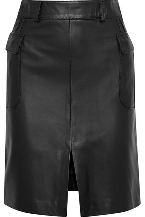 IRIS & INK Patsy leather mini skirt