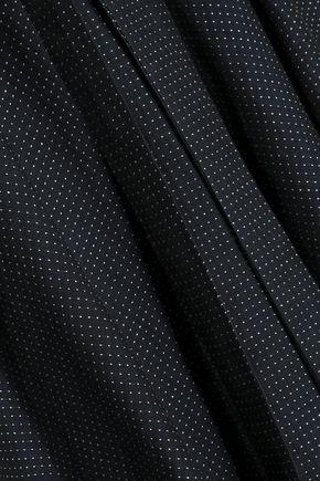 CHALAYAN Asymmetric polka-dot linen-blend skirt